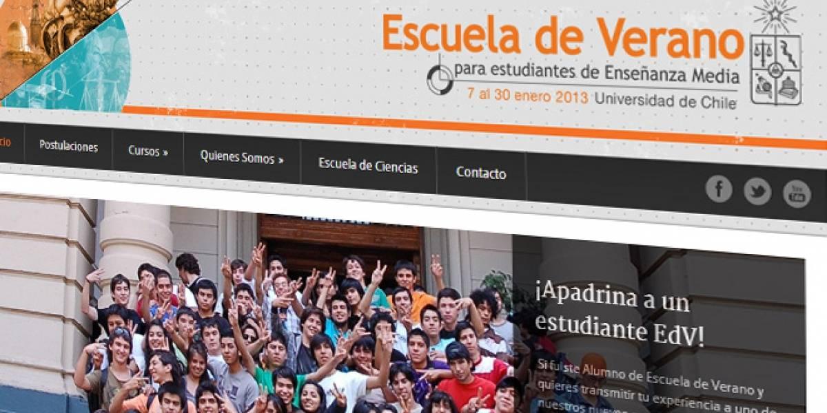 Chile: Postulaciones a la Escuela de Verano de la U. de Chile cierran este domingo