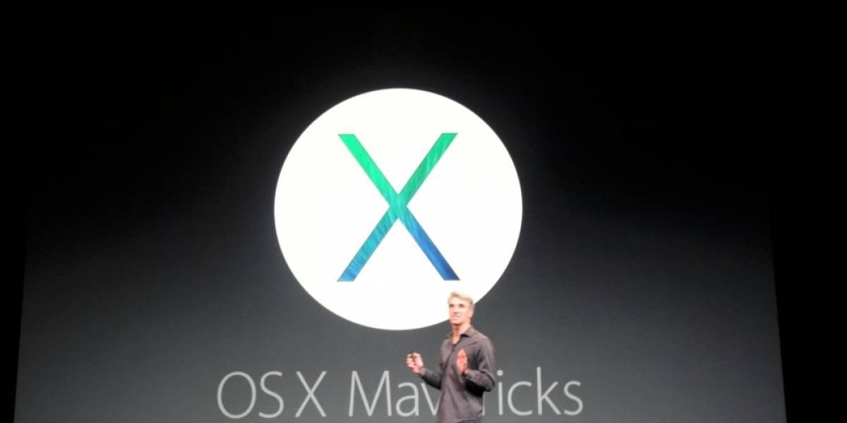 Apple lanza OS X Mavericks gratis desde hoy