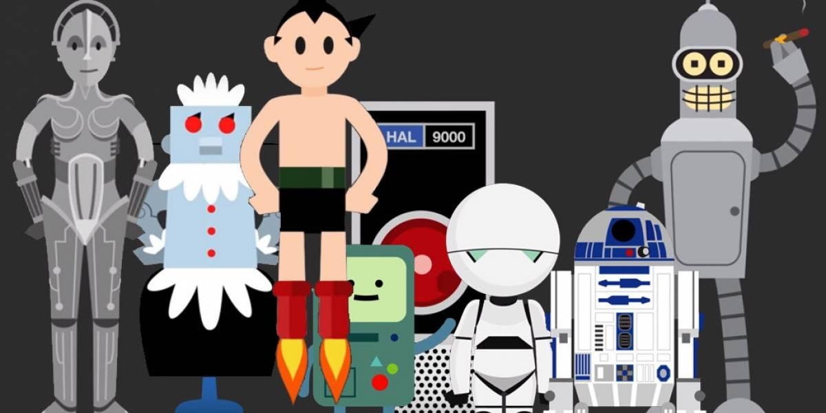 Este video muestra la evolución de los robots en la cultura popular