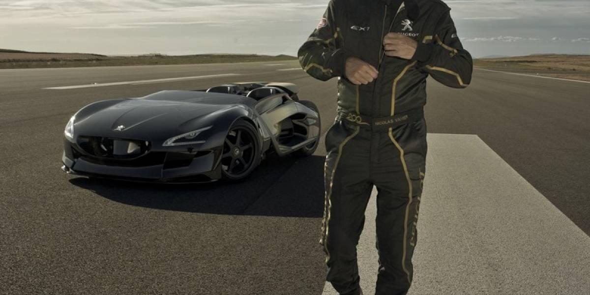 Peugeot EX1 bate récord de velocidad para automóviles eléctricos
