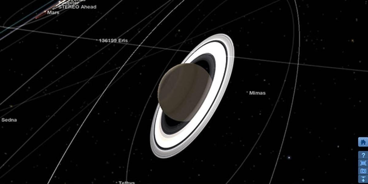 NASA lanza web app para explorar el sistema solar