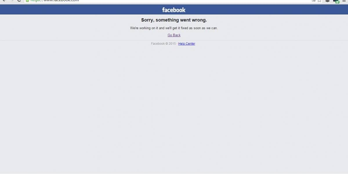 Facebook se cae y permanece inestable
