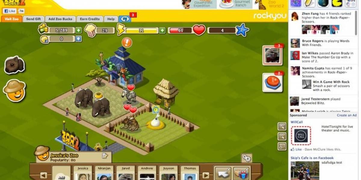 Facebook optimiza su plataforma de juegos