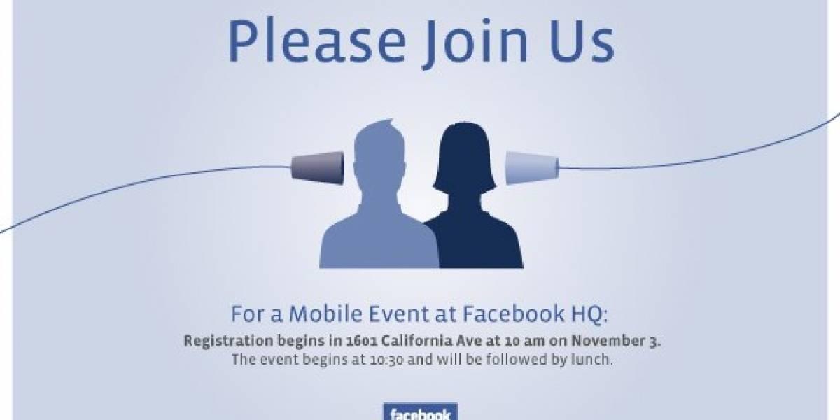 """Facebook invita a los medios a evento """"móvil"""" el 3 de noviembre"""