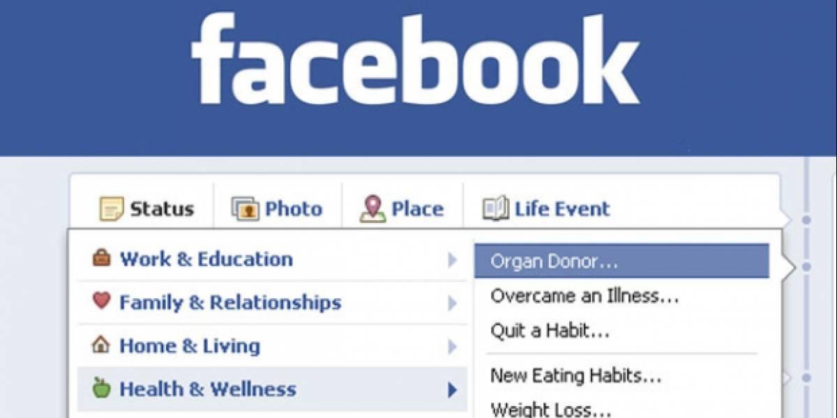 Facebook agrega opción para compartir que eres donante de órganos