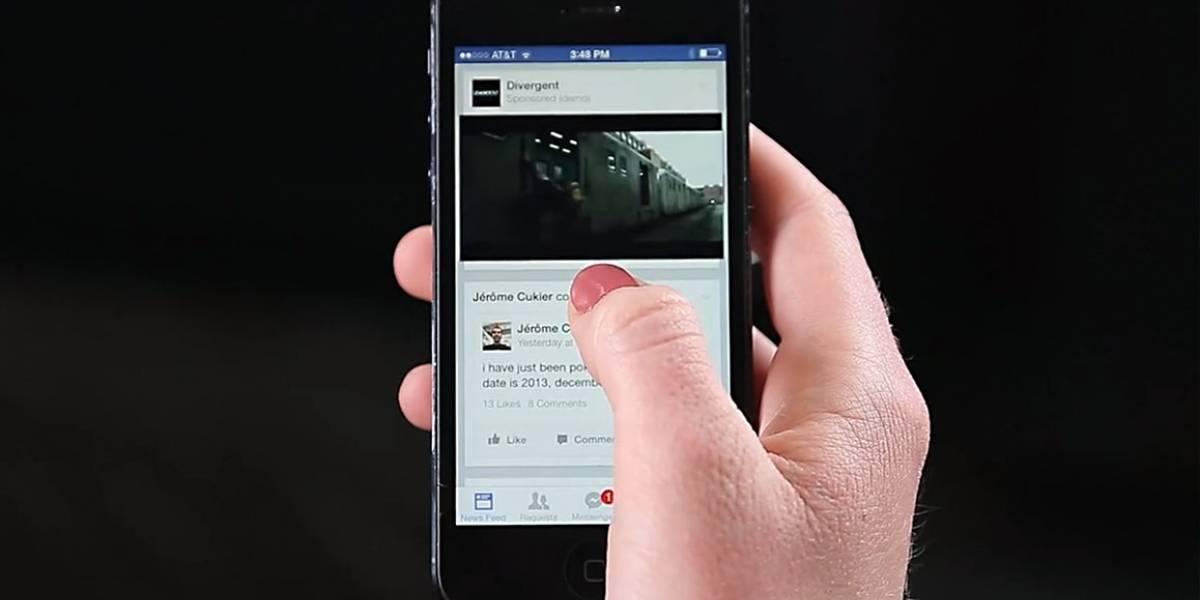 Facebook ya muestra vídeos como publicidad