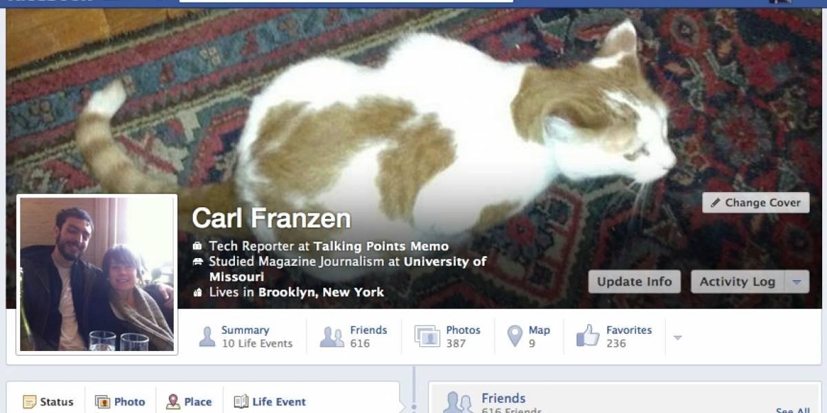 Facebook prueba un sutil cambio de look para su Timeline