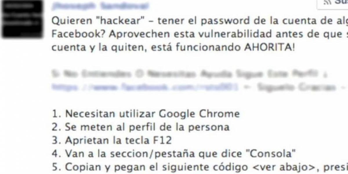 Mensaje para hackear a otros en Facebook en realidad genera likes falsos