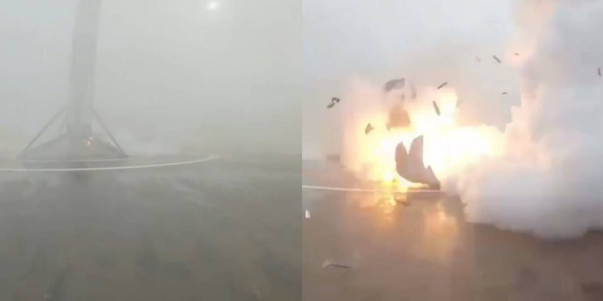 Falcon 9 aterriza sobre un barco, pero explota al no desplegar una de sus patas [Video]