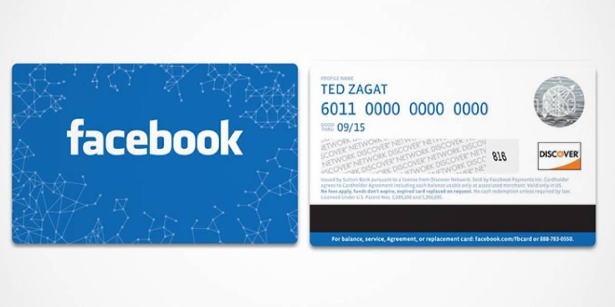 Facebook lanza tarjetas de regalo en Estados Unidos