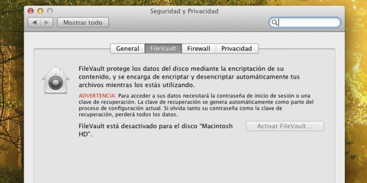 FileVault guarda contraseñas en texto legible en OS X Lion