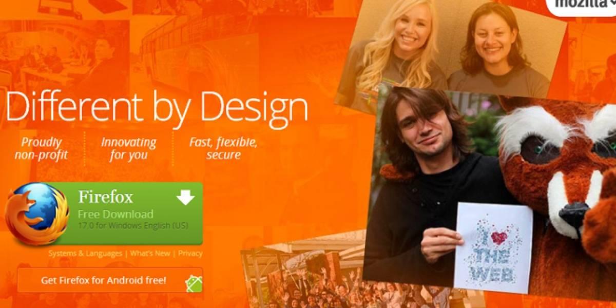 Lanzan oficialmente Firefox versión 17