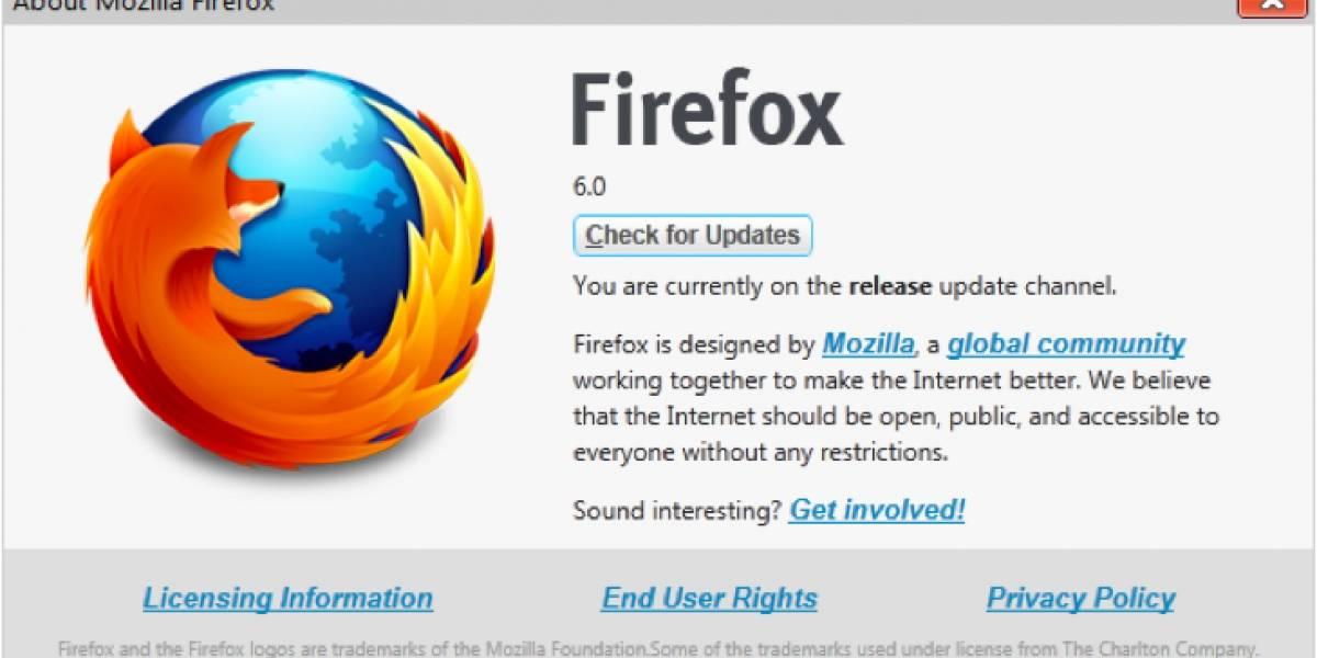 Ya se puede descargar Firefox 6 desde los servidores de Mozilla