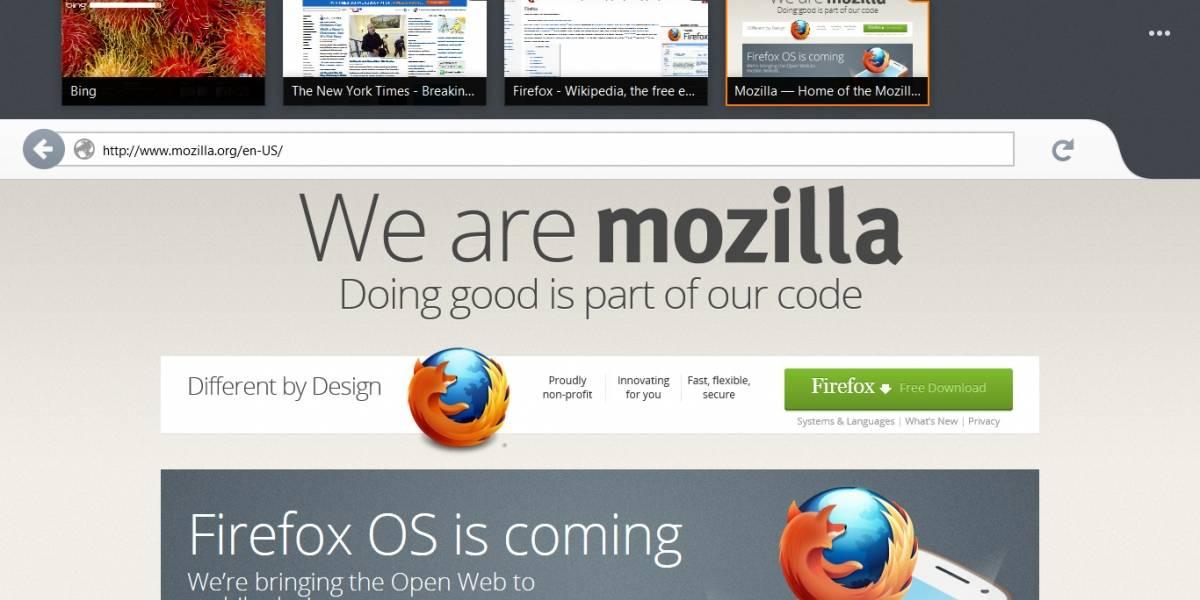 Firefox estilo Windows 8 será lanzado en enero