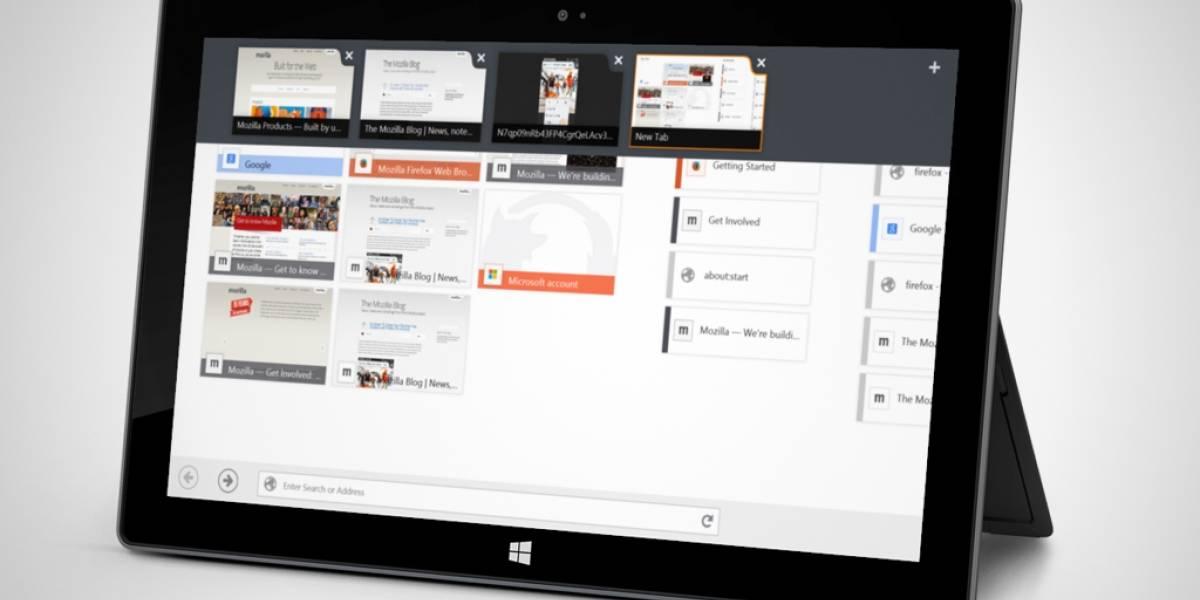 Versión beta de Firefox se puede usar con pantalla táctil en Windows 8
