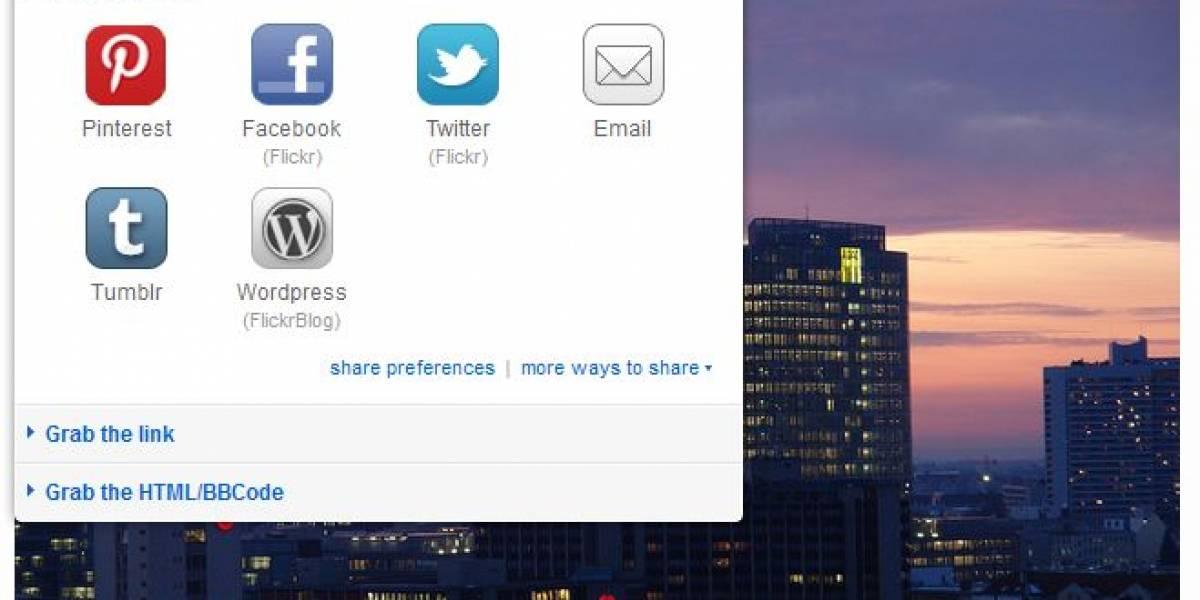 Flickr permite compartir imágenes en Pinterest manteniendo derechos de autor