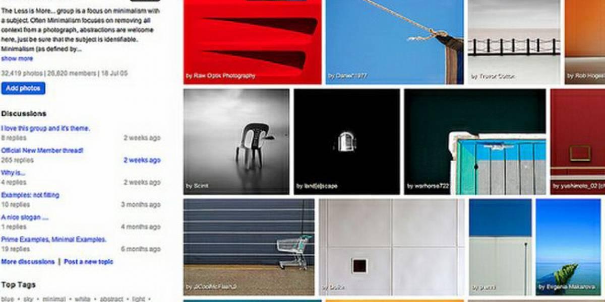 Flickr introduce nuevas características a sus grupos