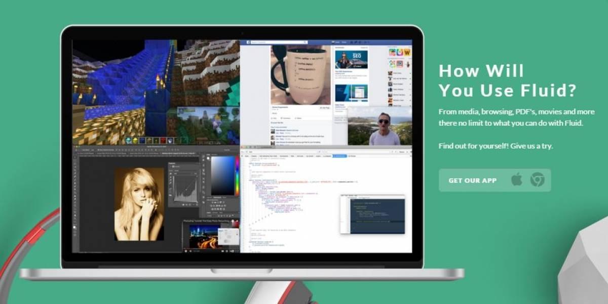 Fluid, el navegador web para Mac ideal para multitareas