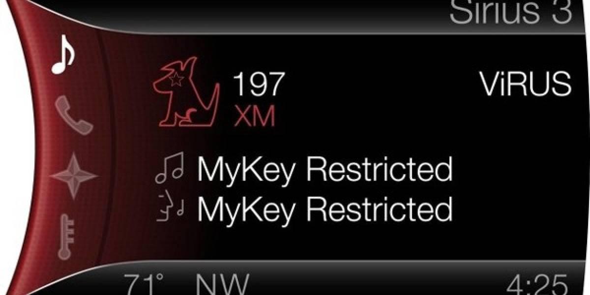 MyKey de Ford ahora censura emisoras de radio y alerta sobre poco combustible