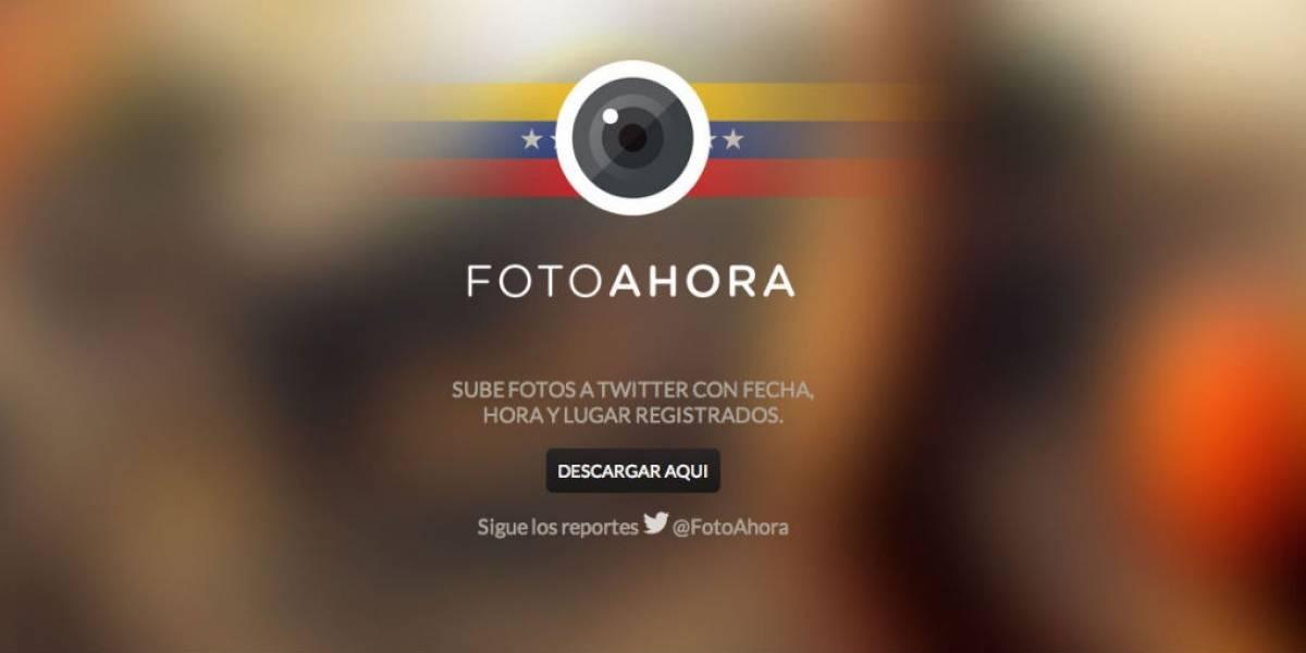 FotoAhora, una opción para cubrir las protestas en Venezuela