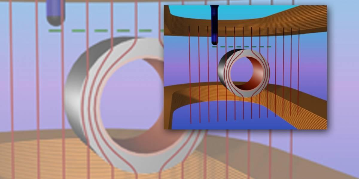 Desarrollan un cilindro invisible a los campos magnéticos