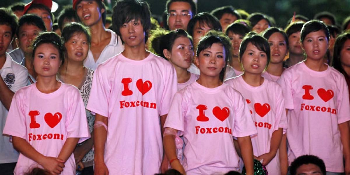 Foxconn organiza reuniones de trabajadores para subir el ánimo
