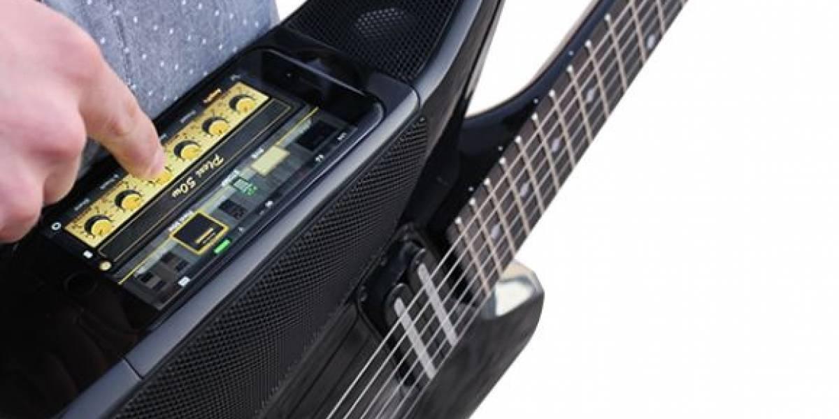 La Fusion Guitar solo requiere un iPhone o iPod para que toques y mezcles tu música favorita