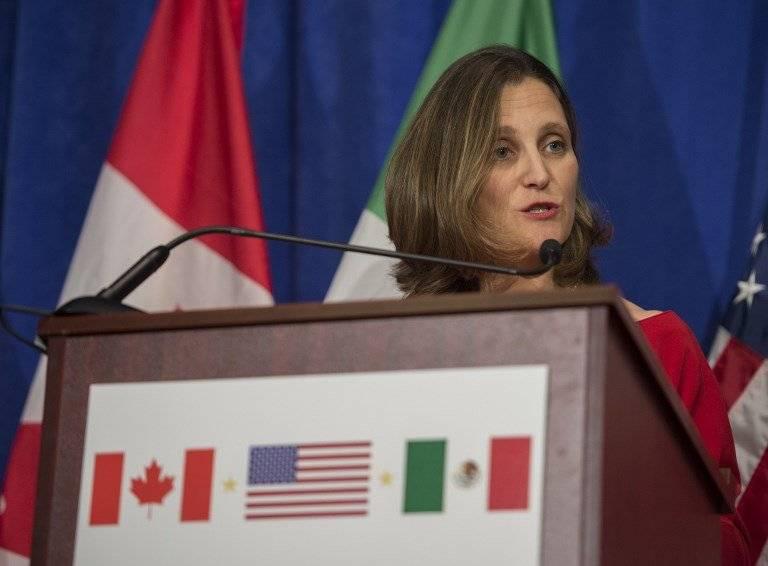 Chrystia Freeland, ministra canadiense de Exteriores