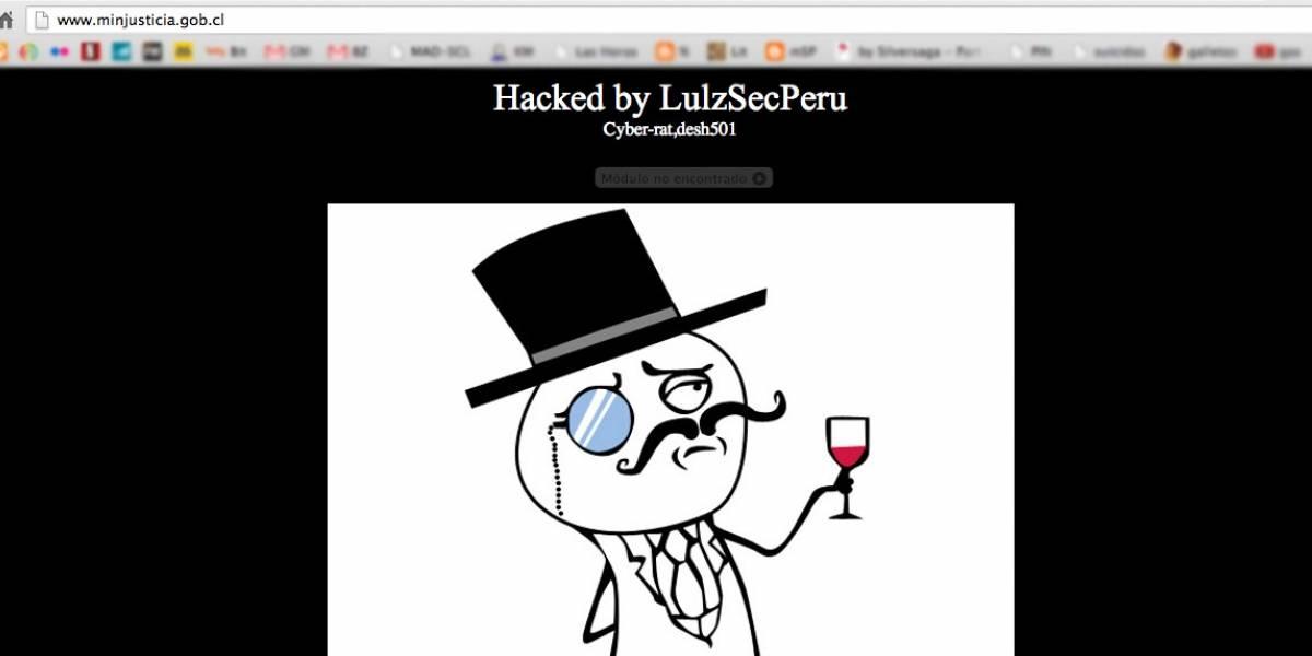 Chile: Lulzsec Perú se atribuye hackeo de sitio web del Ministerio de Justicia