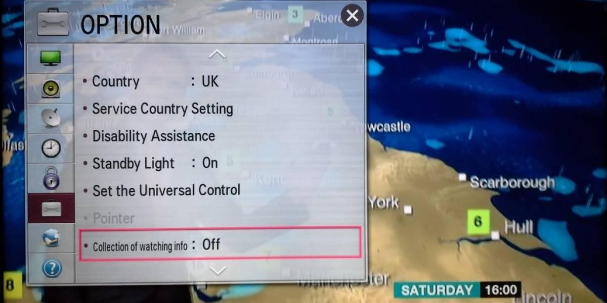 Smart TV de LG reportaría hábitos de uso del usuario pese a desactivar la opción
