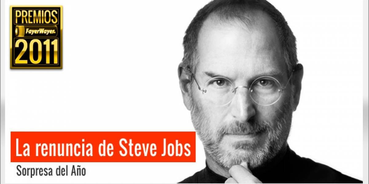 Pila de Oro a la Sorpresa del 2011: La renuncia de Steve Jobs