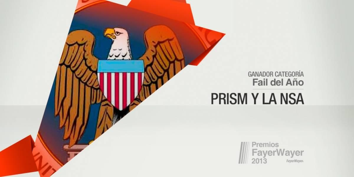 El espionaje de la NSA fue elegido el Fail de 2013 [Pila de Oro]