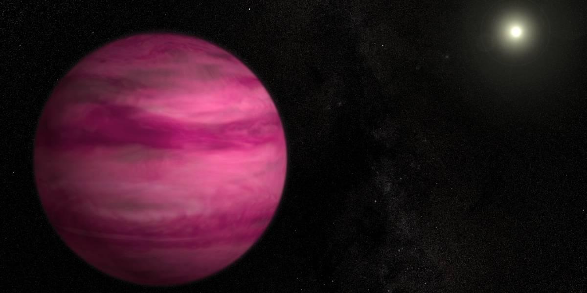 Este planeta rosado es el más pequeño jamás fotografiado