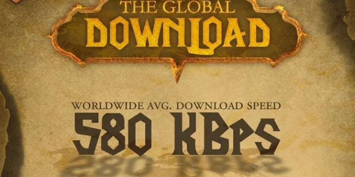 Infografía de la velocidad de descarga mundial en Internet