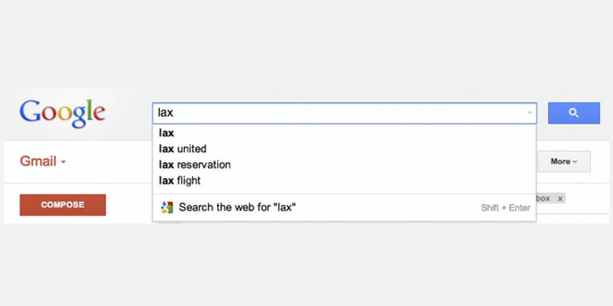 Google perfecciona buscador en Gmail con opción de autocompletado