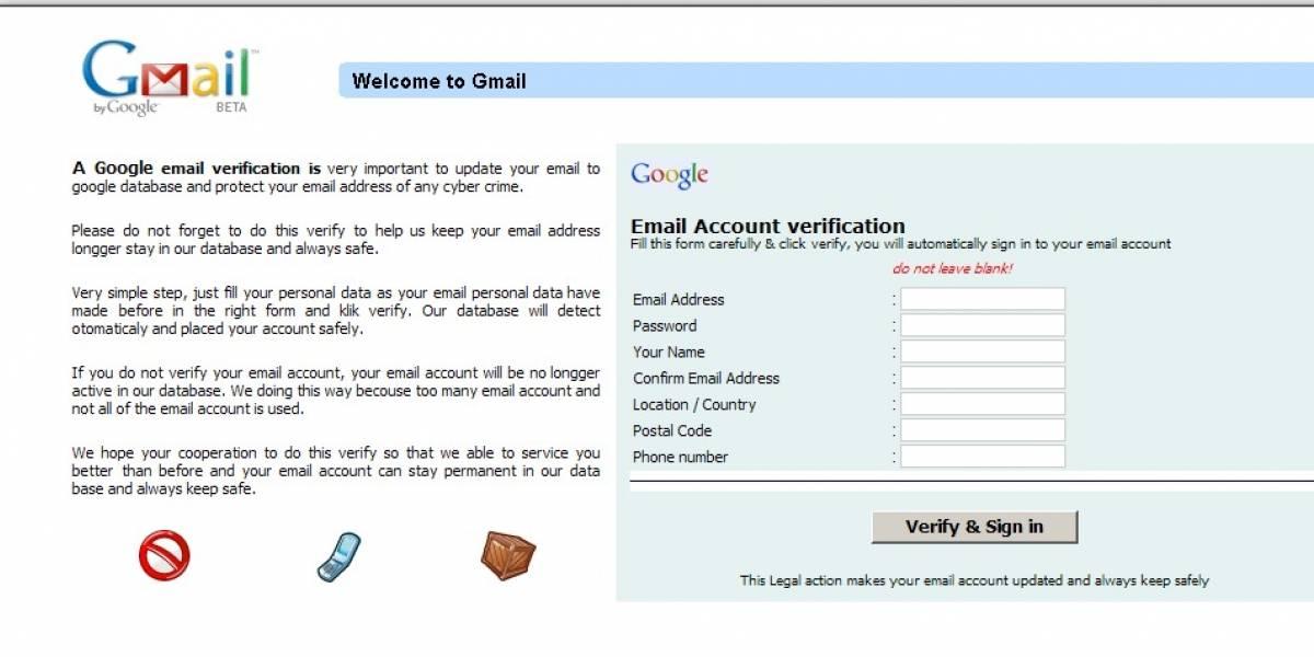 Google advierte sobre un robo de contraseñas de Gmail