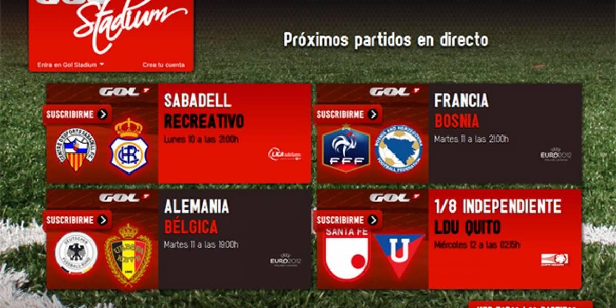 España: Gol Stadium lleva los partidos de fútbol a Internet