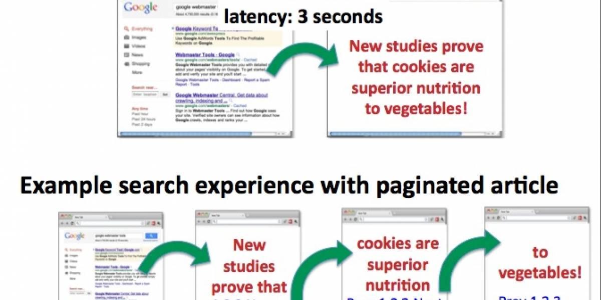 Google no quiere contenidos divididos en varias páginas