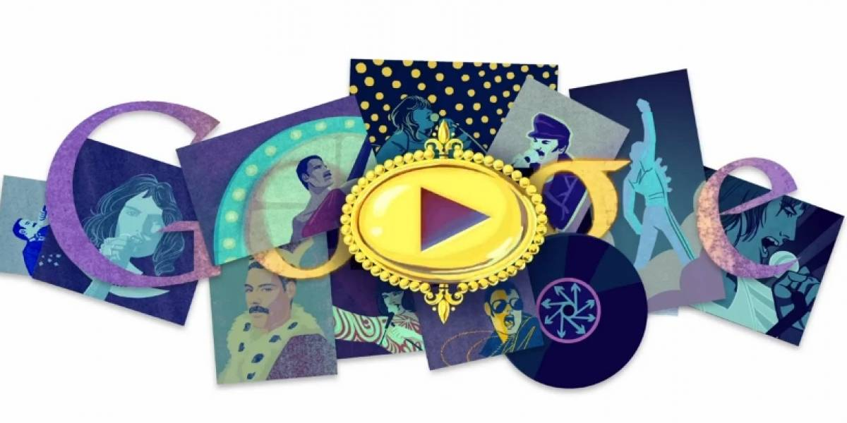 El Doodle de hoy celebra a Freddie Mercury con música y animación