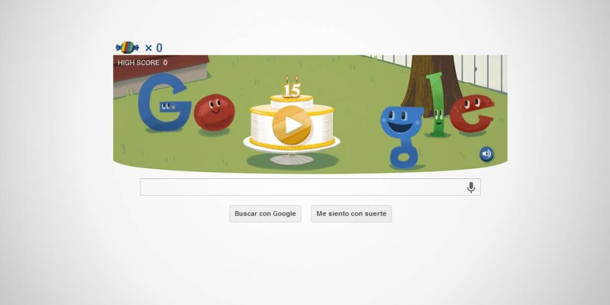 Google celebra 15 años de existencia con doodle y easter eggs