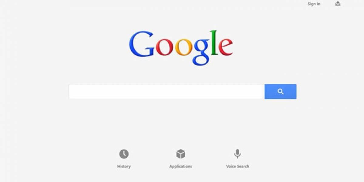 Google lanza aplicación de búsqueda para Windows 8