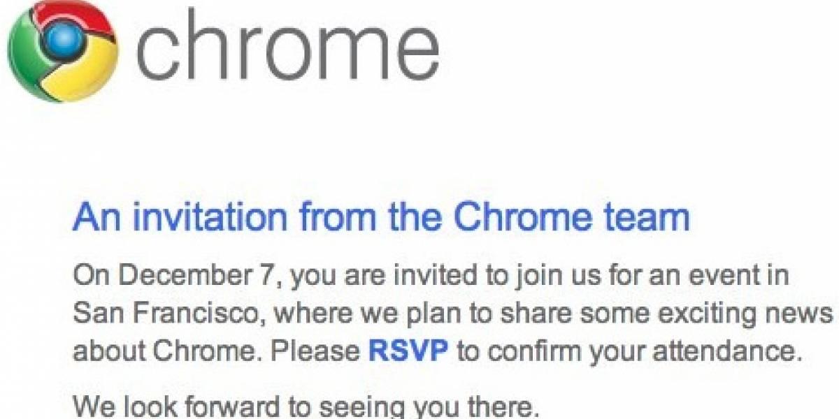 Chrome OS finalmente será presentado el próximo 7 de diciembre