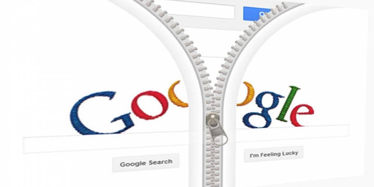 Hoy Google se 'abre' con una cremallera para homenajear a Gideon Sundback