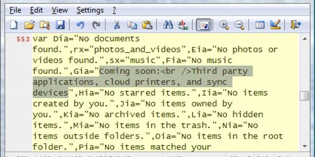 Google Docs tendrá aplicaciones, impresión en la nube y sincronización de documentos