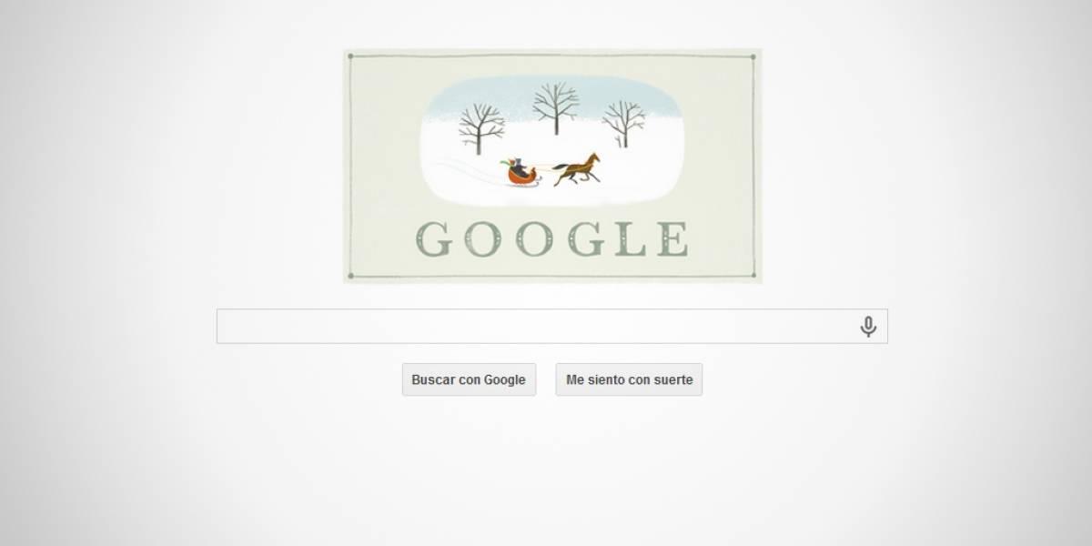 Google desea feliz Navidad con un simple doodle