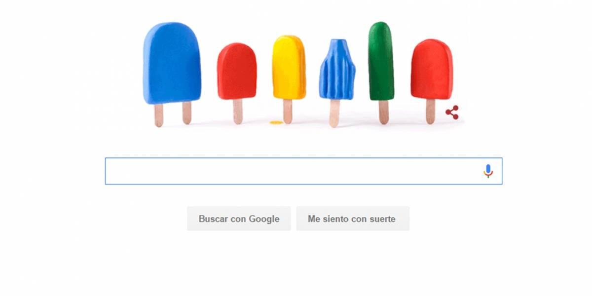 Google celebró la llegada del verano con simpático doodle de helados