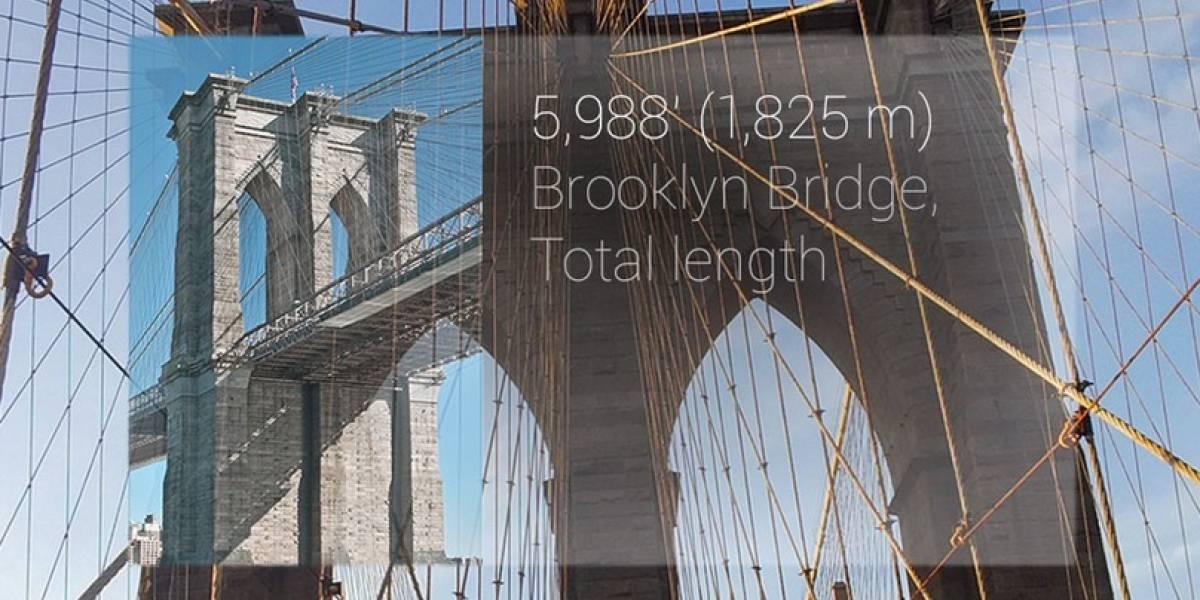 Modo de depuración de errores de Google Glass reveló todos sus sensores internos