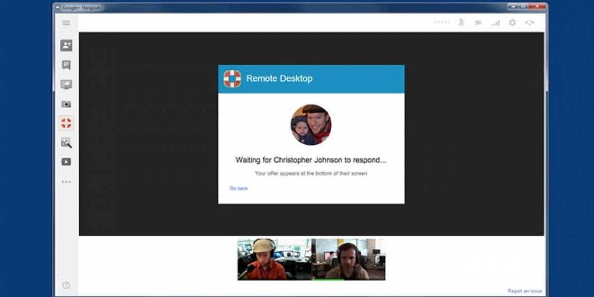 Google+ Hangouts ahora te permite establecer un escritorio remoto