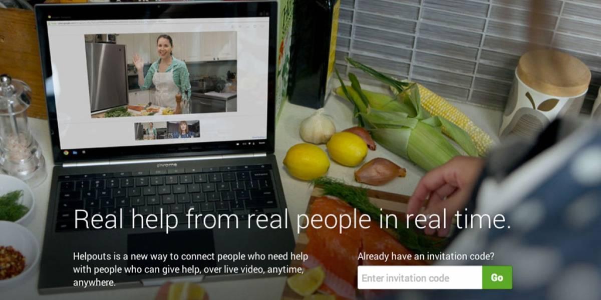 Google Helpouts existe pero para acceder necesitas invitación