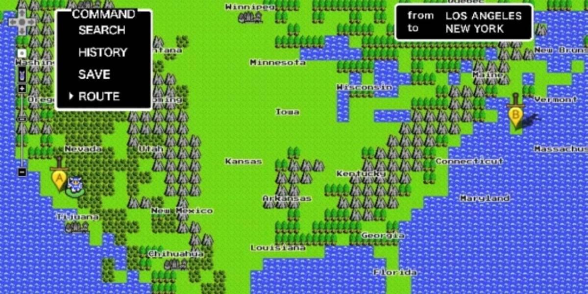 Google Maps también tiene una versión de 8-bits